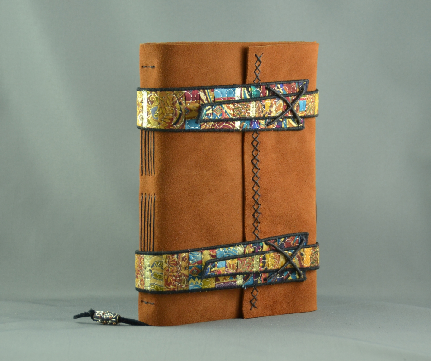 Treasure Seeker Handmade Leather & Fiber Art Journal